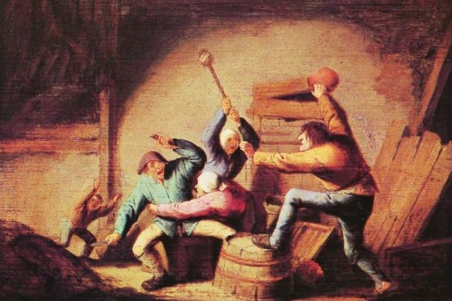 Адриан Ван Остаде. Драка. 1637